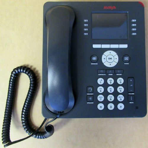 Avaya 9611G 0140-111664 Telephone 8-Line IP VoIP PoE Gigabit LAN With Stand